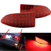 Red Lens 33 SMD LED tail Rear Bumper Reflectors Lights For 2006 13 Lexus IS250 IS350 Brake Parking Auto Tail Night for Lexus