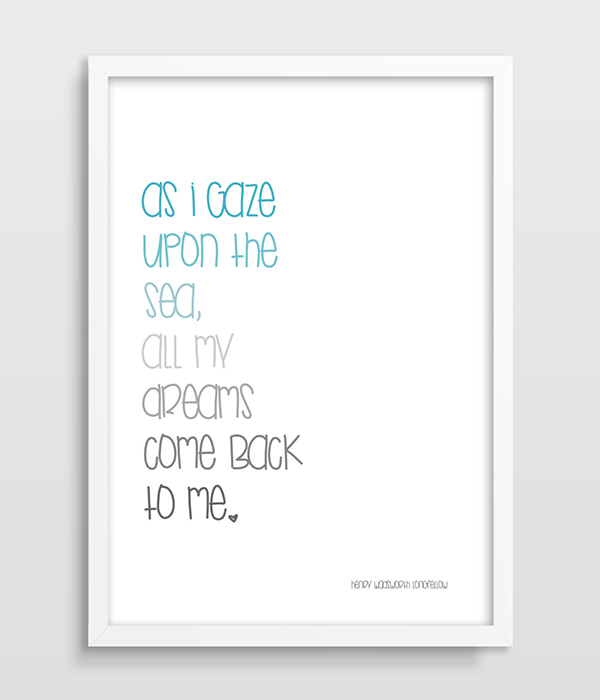 Print nautical quote sweet home decor nursery print sailor for Discount wall decor home accents