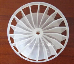 New type large power barber shop hair dryer plastic fan blade 54.5X29 hole size 4mm 4mm hole white hair dryer fan blade h27mm diameter 62mm ind turbine barber salon common duct