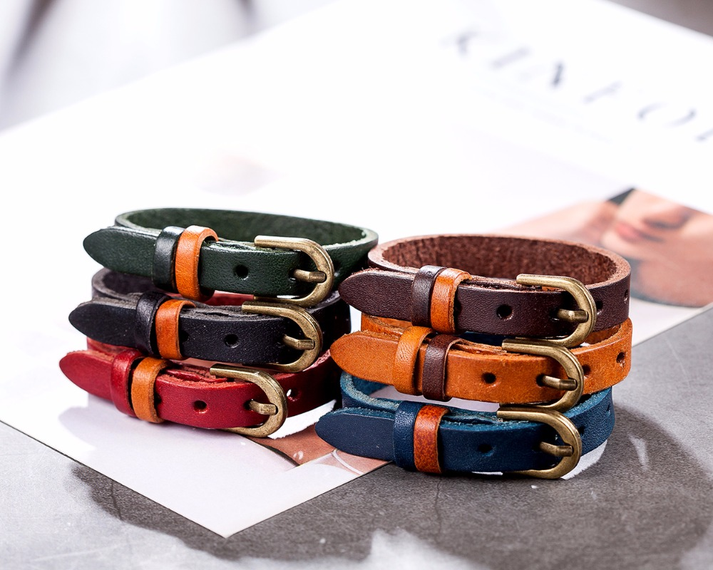 17 New Men Bracelet for Women Vintage jewelry Genuine Leather Bracelet pulseira feminina bracelets & bangles,bracelet men 11