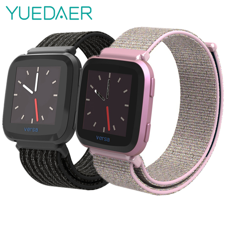 YUEDAER <font><b>Pink</b></font> Nylon Smart Watch Strap <fo