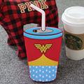 Krusty spongebob batman wonder woman unicornio lágrimas de granizado de café starbuck taza de paja de silicona caja del teléfono para el iphone 5s 6 s 6 más