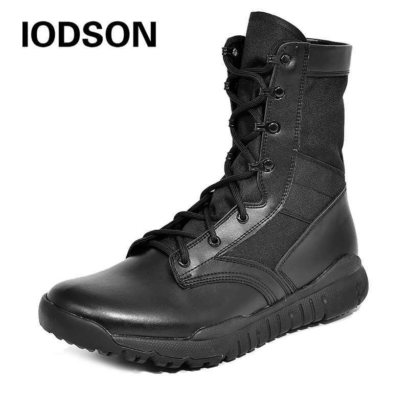 Outdoor Waterproof Army Shoes Side Zip Military Tactical