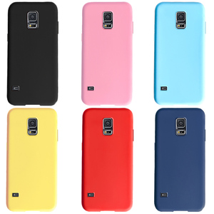 for Samsung Galaxy S5 S 5 SV i9600 G900F S5 Neo G903F S5 Duos sm-g900fn Cover Capa Galaxy s5 Soft Silicone TPU Solid Color Case(China)