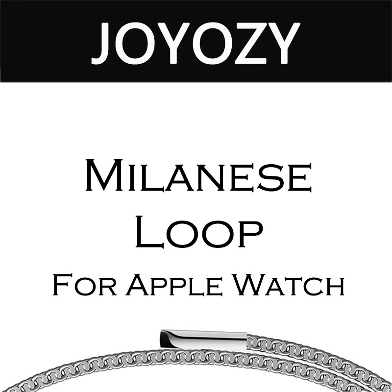 Joyozy milanese loop for apple watch band Series 3 2 1 strap for iwatch stainless steel Magnetic adjustable buckle with adapters цена