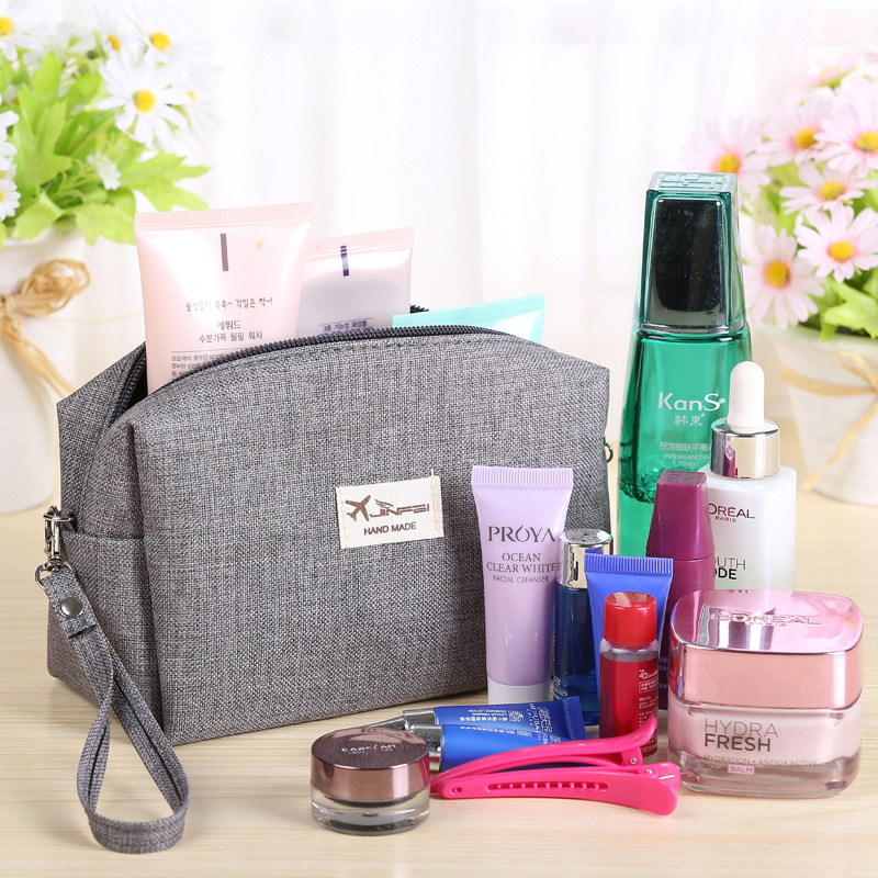 US $1 69 |2019 Korean Style Toiletry Bags Canvas Travel Cosmetic Bag Small  Organizer Women Makeup Bag Neceser Make up Case Beauty Storage-in Cosmetic