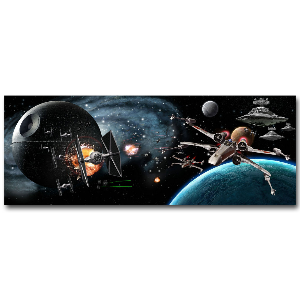 Star Wars Empire at War Battlefront Art Silk Fabric Poster Print 13x35 24x64 inch Hot Game Picture for Room Wall Decor 129