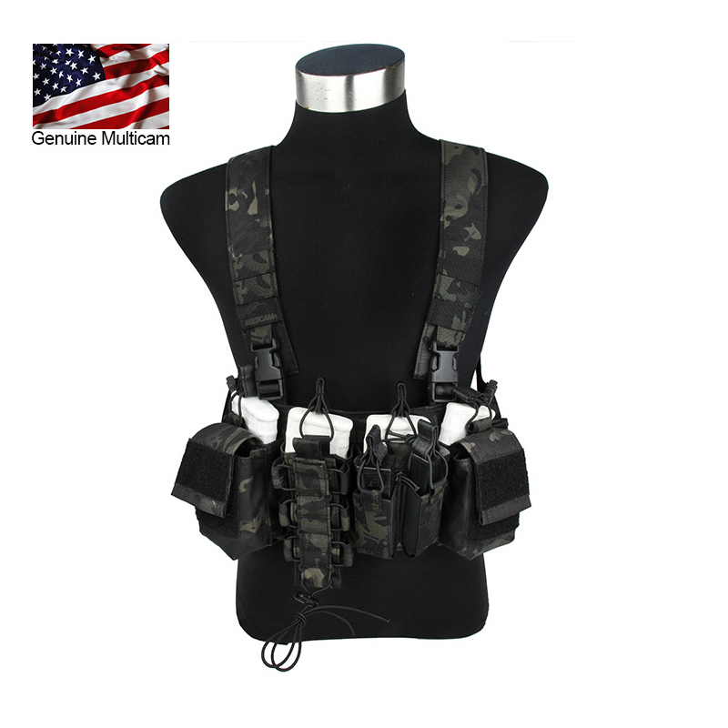 Multicam Black D-Mittsu Chest Rig 500 Cordura MCBK Chest Rig with Magazine Pouches Harness with mangazine Pouch