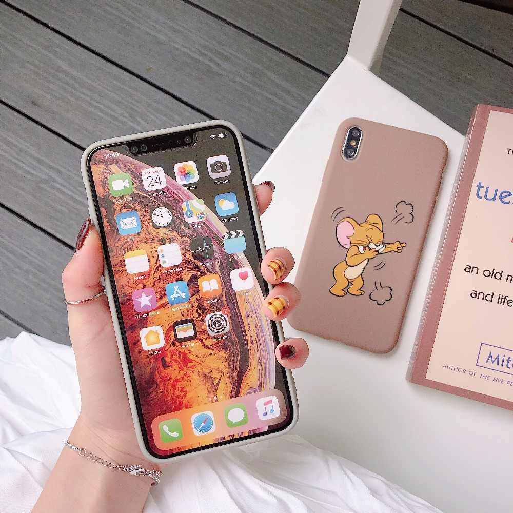 Caso de Huawei P10 Plus divertido Tom Jerry para Huawei P20 P30 Mate 10 20 Pro Honor 9 10 funda de silicona Nova 2 s 3 3i 4 Coque