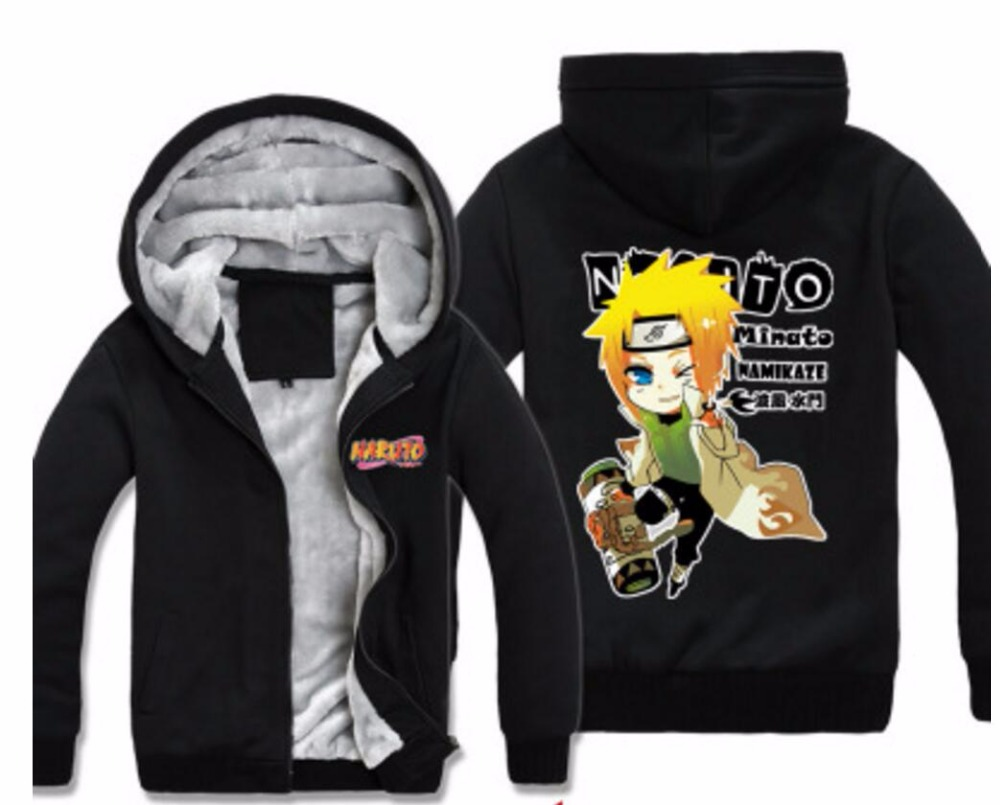 Naruto Akatsuki Hoodie Zipper Jacket Sweater Shirt Coat Cosplay Costume All Size