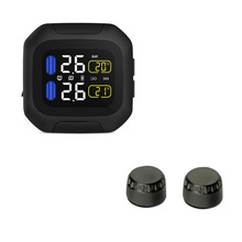 Black Motorcycle Tire Pressure Waterproof Protection Wireless TPMS System M3 Monitoring System Car External Sensor Automotive