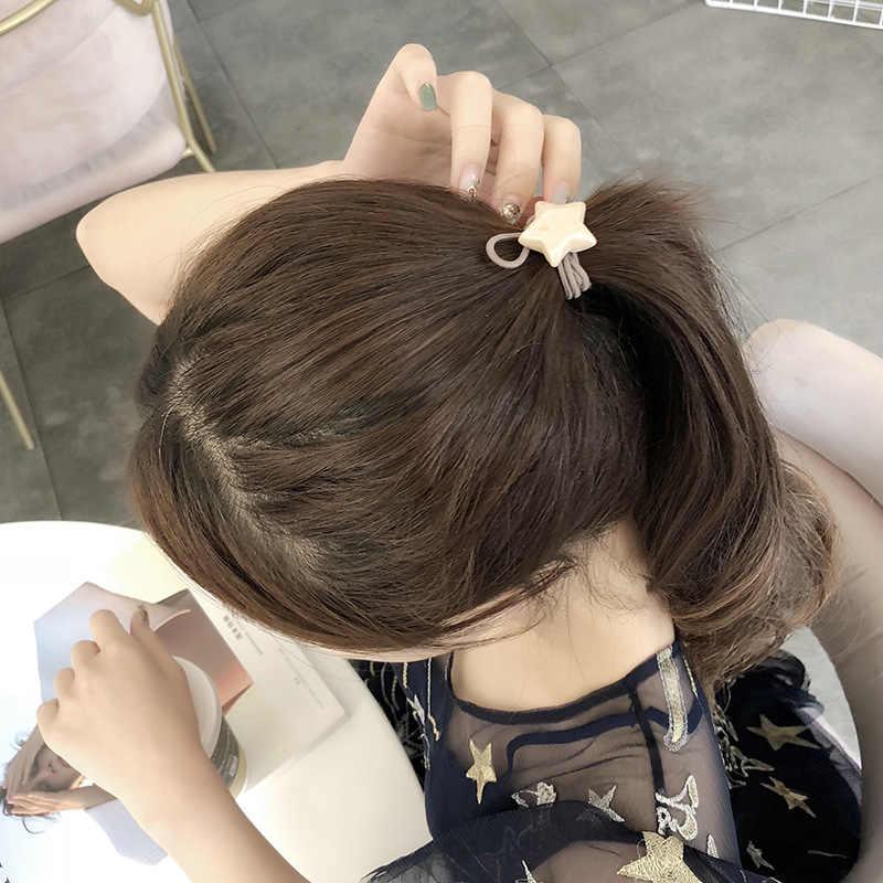 5 สียอดนิยมคู่ผมวงยืดหยุ่นผมคริลิคห้าดาวหญิงเด็ก Headband อุปกรณ์เสริม Halka Kupe