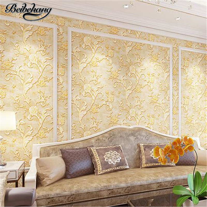 beibehang TV background wall paper sofa background living room bedroom European non-woven wallpaper 3d three-dimensional luxury dongyang woodcarving natural jade carvings pendants living room three dimensional relief sofa background wall painting sol