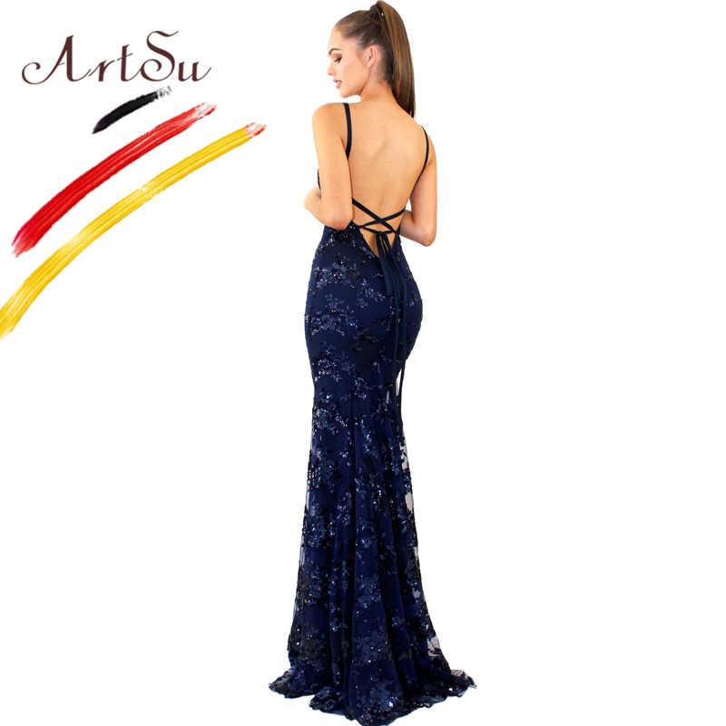 1c57fce99c5e32f ... Арцу сексуальное кружевное вечернее платье с пайетками вечерние с  v-образным вырезом без рукавов с ...