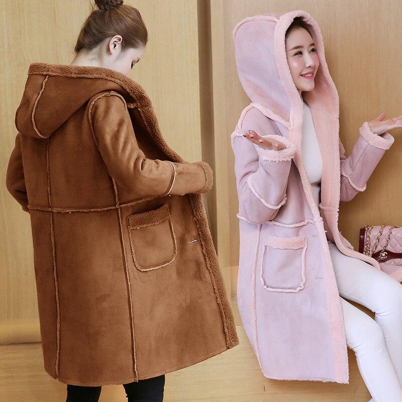 Parkas Lâche Chameau Mode camel Rose 2018 Hiver Gris Femmes Vestes Vêtements Épais rose Manteaux Taille Gris Coton La Longs À Capuche Plus Femme Chaud gYdfqwZU
