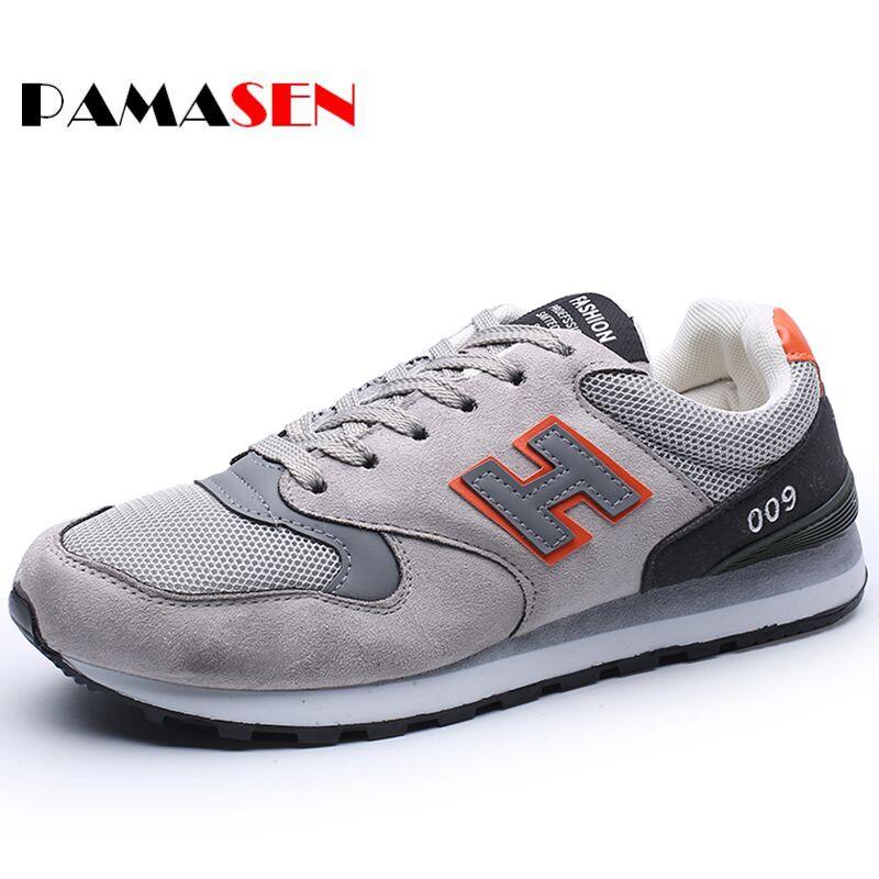 PAMASEN Barato Hombres Zapatos Casuales de Primavera Nuevo Diseño Entrenadores Z
