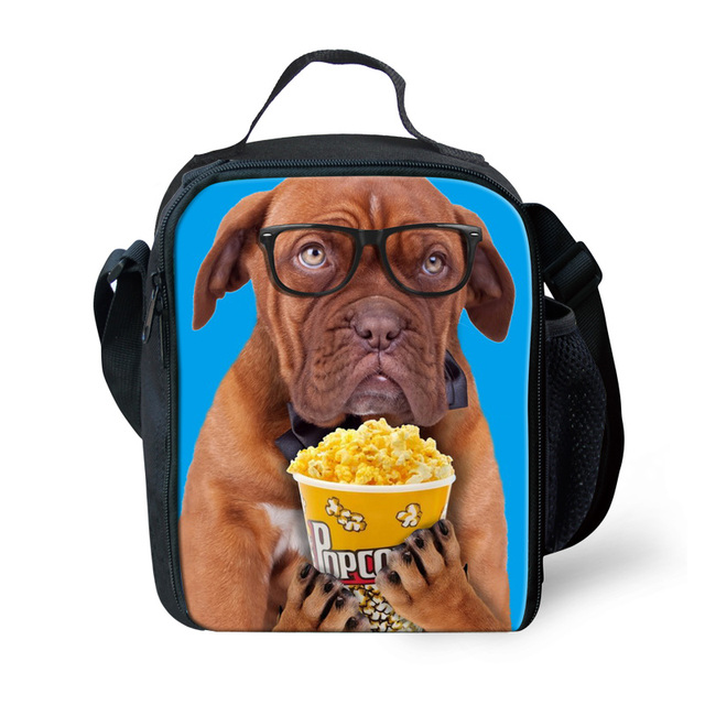 Insulated Children Animal Dog Lunch Bags for School Boys Kids Zipper Thermal  Lunchbox Men Food Bag Lunchbag Lancheira Termica 1021805d4a342