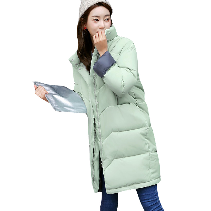 bae20dd7343b6 Women s Plus Size Quilted Knee Length Parkas Female Warm Winter Jacket  Loose Large Size Zip Front Side Pockets Ladies Coat XH460-in Parkas from  Women s ...