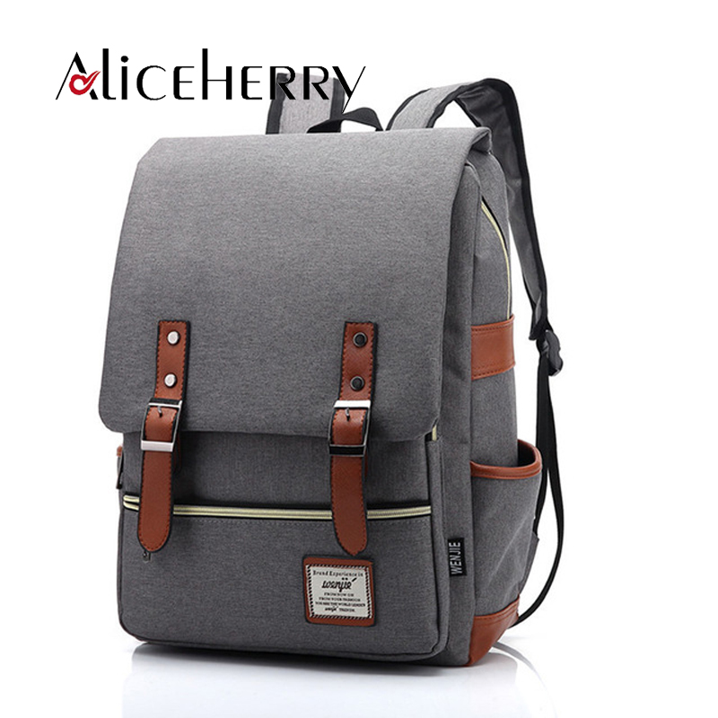 2017 Vintage Canvas backpack Women's backpacks school bag for Teenage girls bagpack travel rucksack mochilas mujer Fashion image