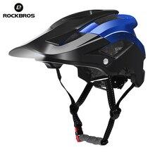Rockbros bicicleta farol ciclismo capacete integralmente moldado bicicleta luz capacete de segurança esportiva mtb capacete para homem