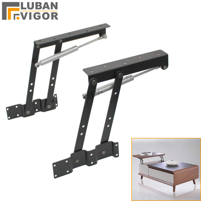Coffee table hydraulic lifting frame support Multi function buffer Computer table lifter Furniture Hardware fittings