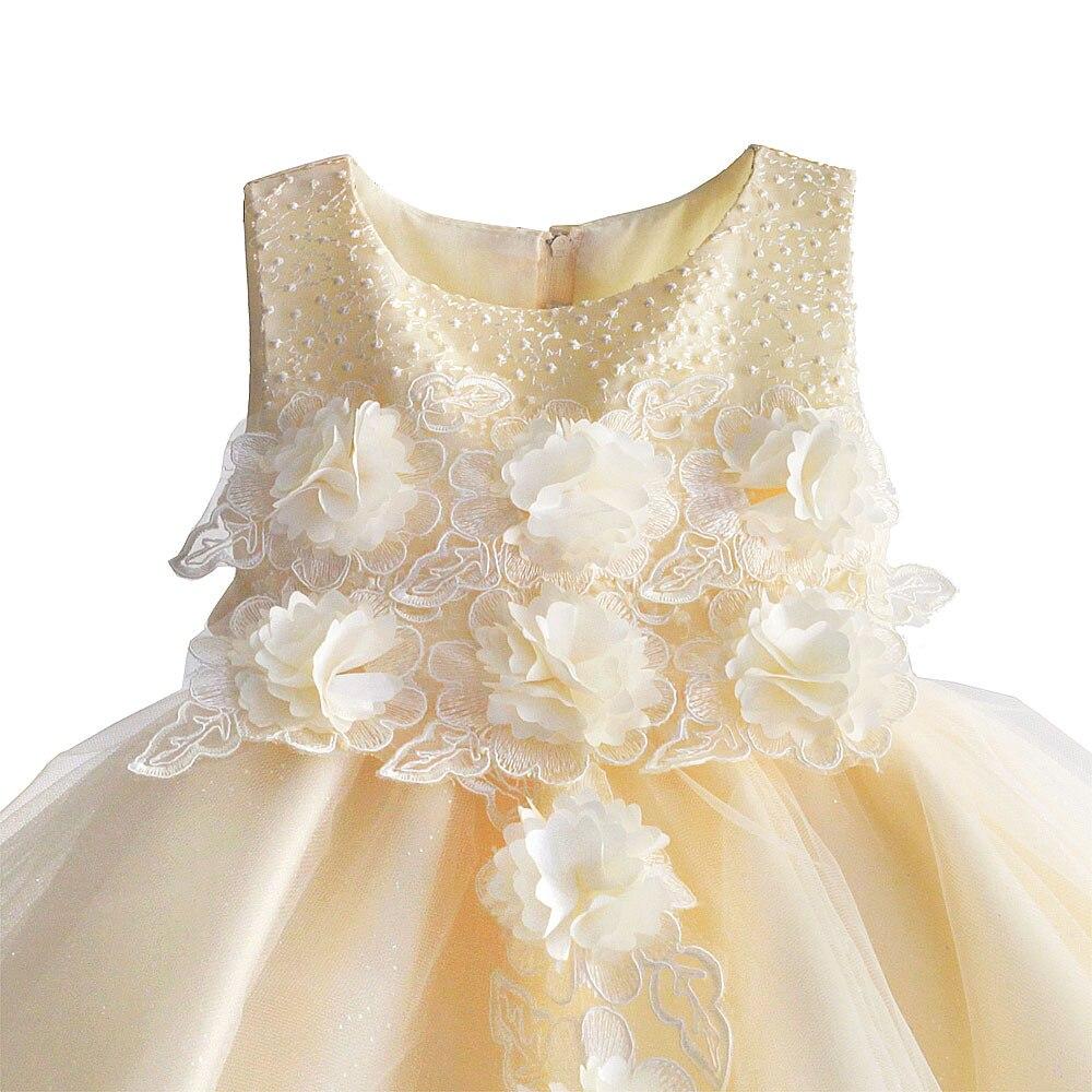 Flower Girls Dress Princess Children Wedding Party Dresses Kids Evening Ball Gown Formal Baby Girls Clothes Size 1-6T