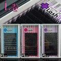 Coréia enxertada plantio cílios postiços nanofio 0.1/0.15/0.2 L bruto único cílios ondulação confortável L-tipo