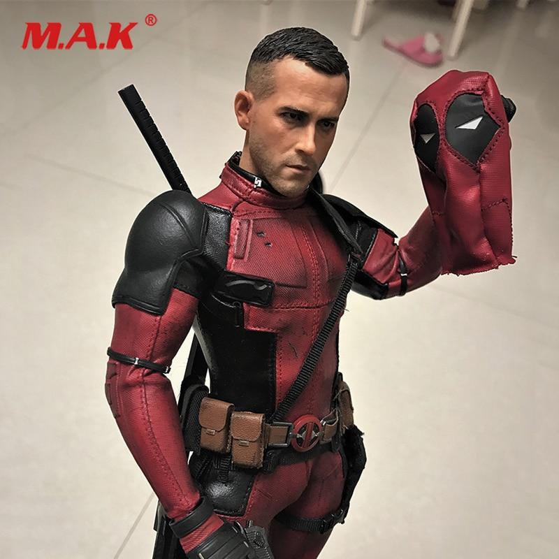 1/6 Deadpool Ryan Reynolds Normal Head Sculpt With Matching Headgear Head Sculpt Fit 12