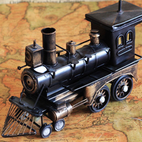 Retro Wrought Iron Locomotive Model Steam Do Old Furnishing Articles Crafts Gifts
