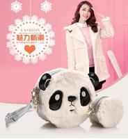 Moda couro PU Mulheres bolsa Das Mulheres de Marcas Famosas Crossbody Saco Panda bolsa