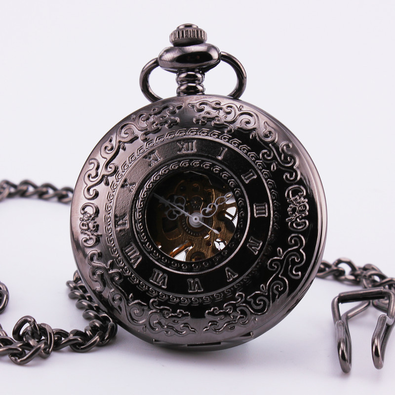 online get cheap antique mens gold pocket watch aliexpress com orkina classic retro pocket watch r black gold dial delicately carved case semi automatic