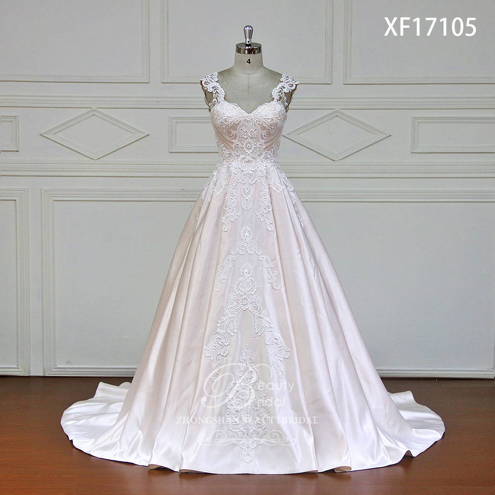 Cap Sleeve Lace Wedding Gown: Sweetheart A Line Wedding Dresses Appliques Lace Royal