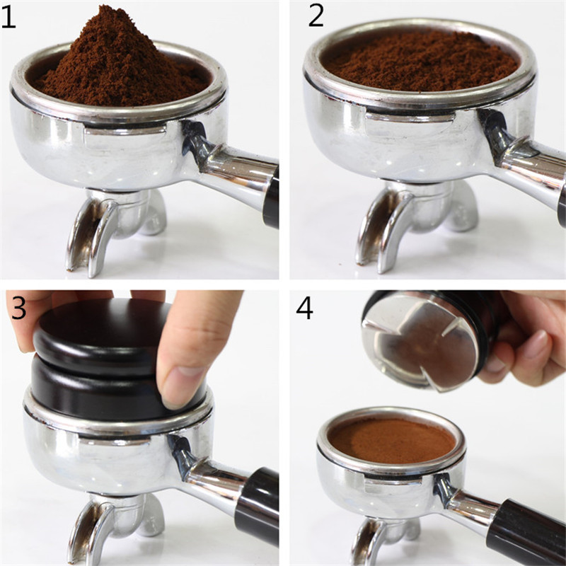Macaron-Design-Adjustable-Smart-Coffee-Tamper-Espresso-58mm-stainless-steel-Base-Propeller-Three-Angled-Slopes
