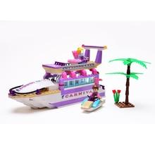 Cogo Girl Series Cruise Ship Blocks 318pcs Bricks Building Blocks Sets Model Kids Educational Toys Brinquedos