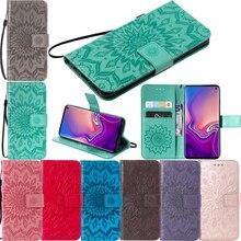 Fashion Leather Sunflower Flip Wallet Soft Phone Silicone Case Cover Shell Coque Fundas for xiaomi Mi A2 Lite Redmi 6 Pro Note