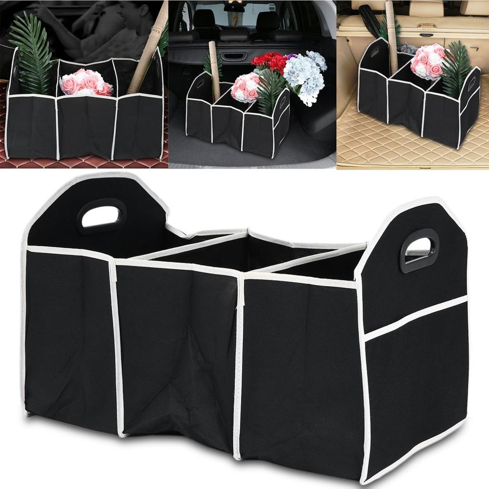 Folding Collapsible Sturdy Robust Car Storage Box Car Boot Organiser Shopping Tidy Collapsible Space Saving Storage Box