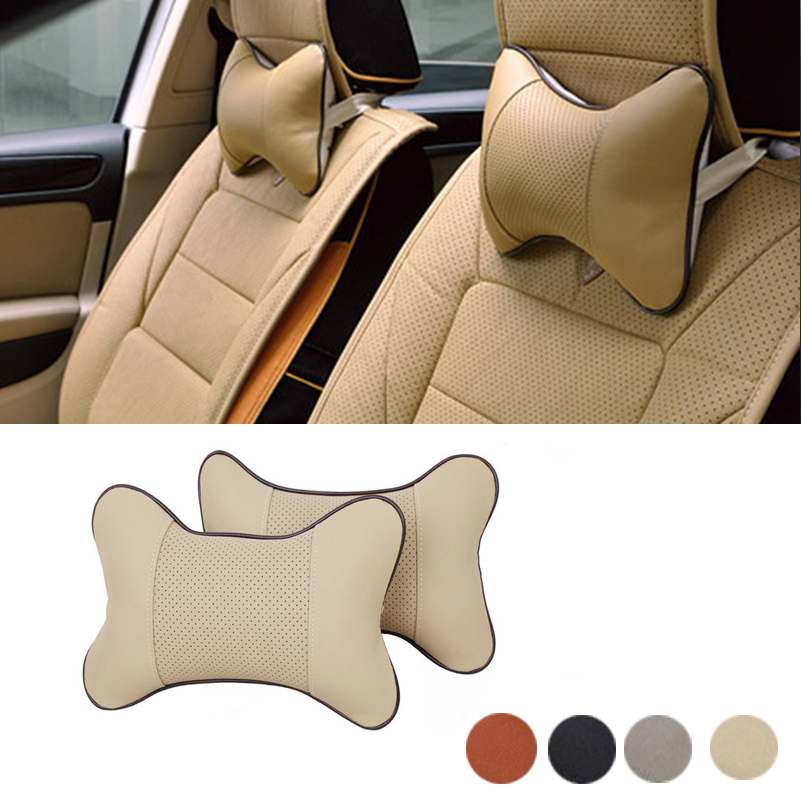 Car Headrest Neck Pillow Auto Seat Cover For Alfa Romeo 159 156 147 Giulietta GT Mito 166 Mini Cooper S R56 F56 R50 R53 F55 R60 alfa romeo 147 156 gta gt 166 gtv spider lancia thesis v6 forged connecting rod high performance free shipping quality warranty