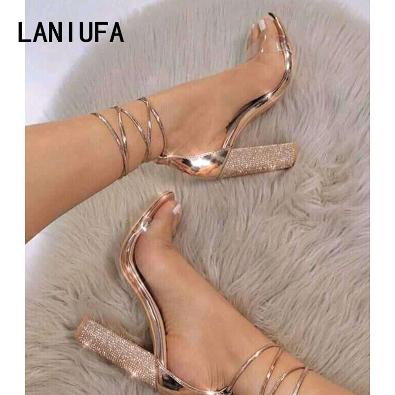 LANIUFA Big size 34-43 Women Super High Heels Square Heels