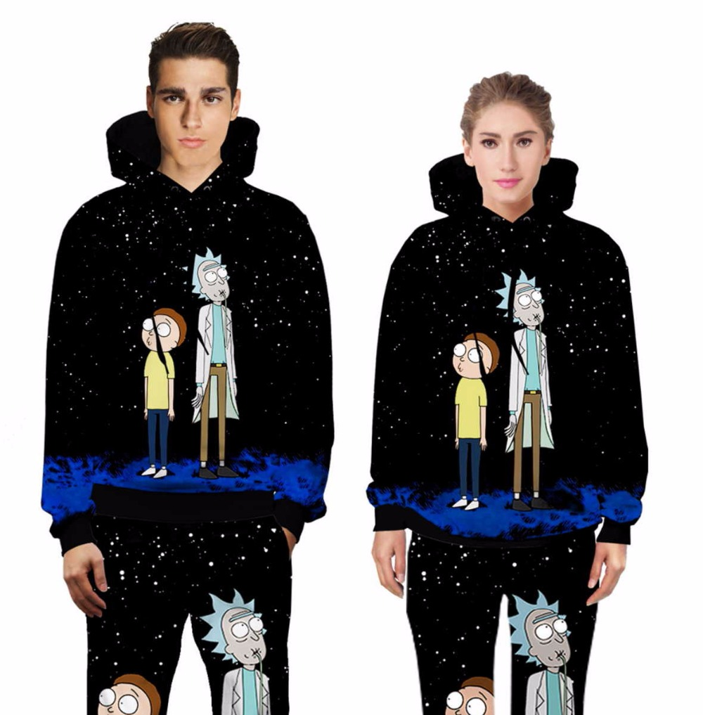 Casual Unisex Rick and Morty  Print Hoodies or Skinny Jeans (Sell by Separate) Anime Sweatshirt With Hat Spring Autumn Clothing Rick and Morty  Print Hoodies HTB1DikmQFXXXXciXpXXq6xXFXXXu