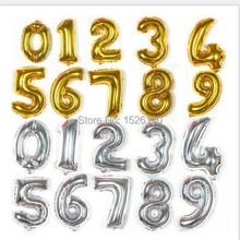 1 шт. 16 » гелиевых шаров алюминиевой фольги воздушный шар серебряная / золотой количество шаров день рождения новый год ну вечеринку свадебные украшения шар
