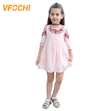 VFOCHI New Girl Dresses 3-13Y Half Sleeve Summer Girls Party Clothes Baby Girls Dress National style Kids Dresses for Girls цена
