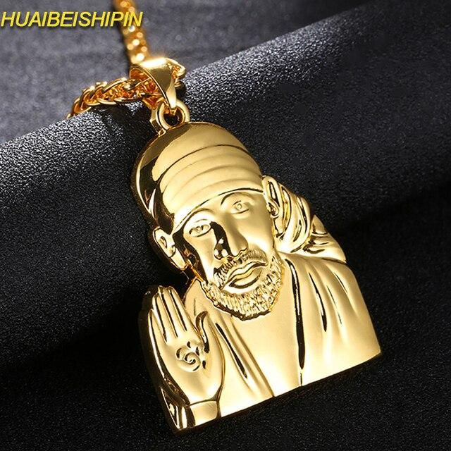 HUAIBEISHIPIN Cristo Redentor Necklaces SilverGold Colors Jesus