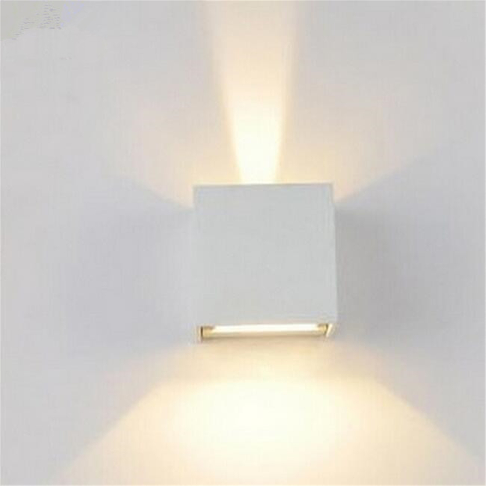 Wall lamps 6w led up down lights led outdoor cube wall for Exterior up down wall light