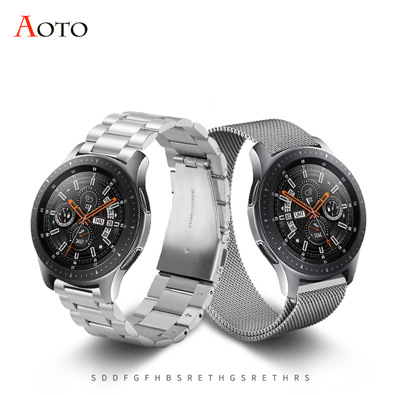 Stainless Steel bands for Samsung Galaxy watch S5 42mm 46mm Gear S2 S3 S4 classic Milanese