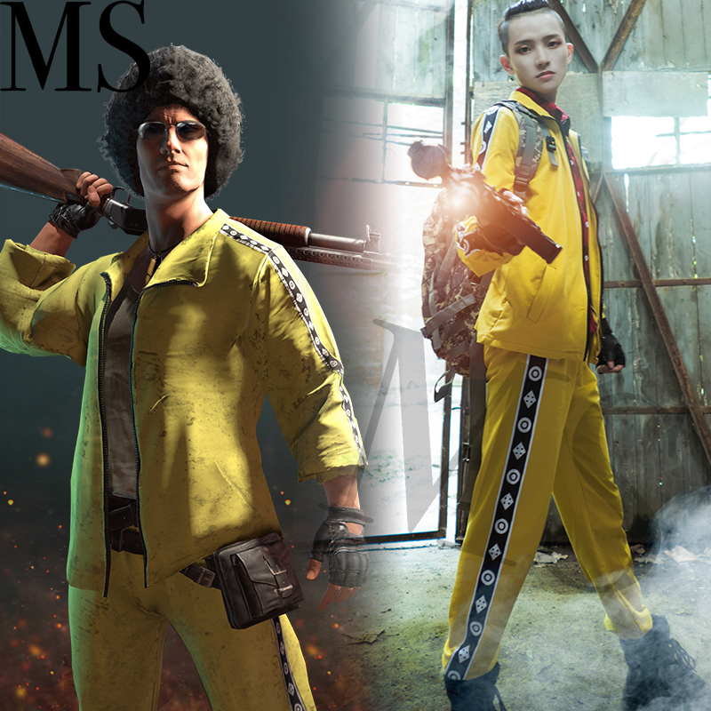 PUBG Sweater pants Playerunknown 39 s Battlegrounds Cosplay Costume Coat Yellow Sportswear Suits Jacket coat pants game Cosplay in Game Costumes from Novelty amp Special Use