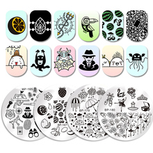 BORN PRETTY Round Stamping Plate Diamond Jewelry Necklace Manicure Nail Art Image Plate