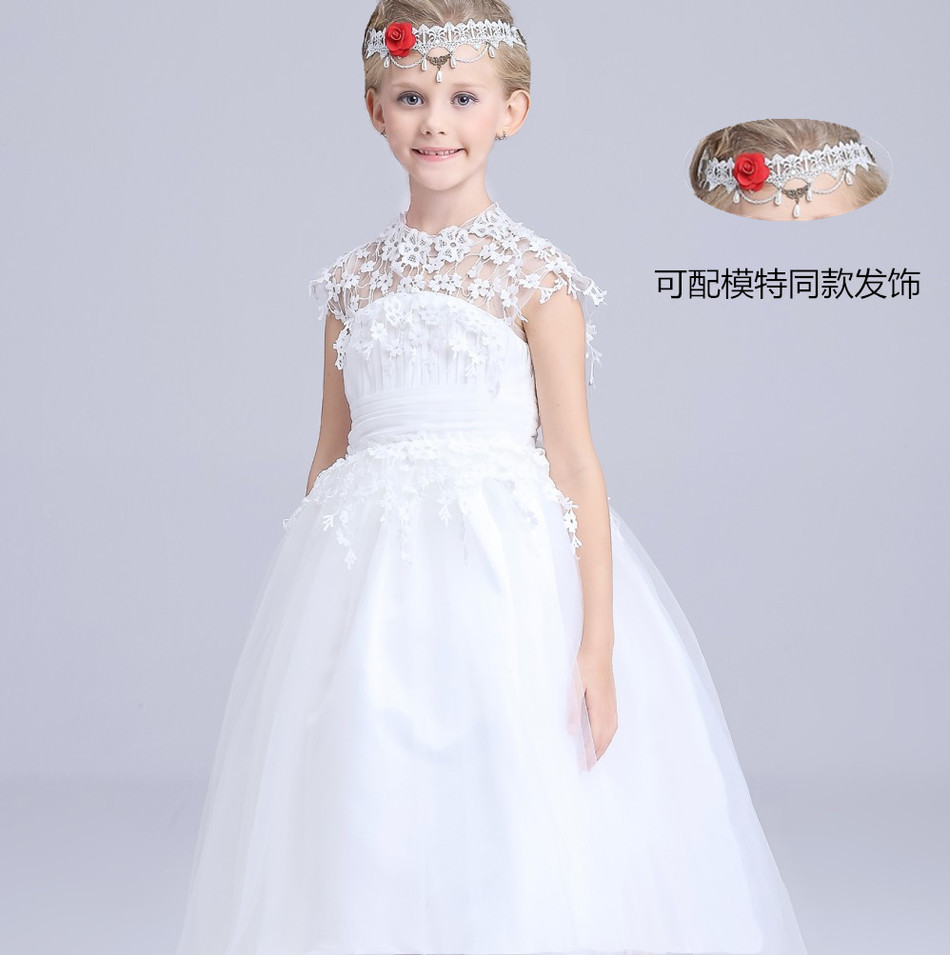 New Pattern Girls Lace Wedding Dress Thick And Disorderly Dress ...