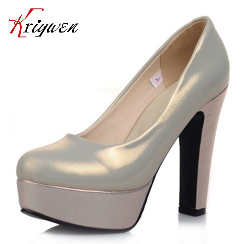Online Buy Wholesale silver thick heels from China silver thick ...