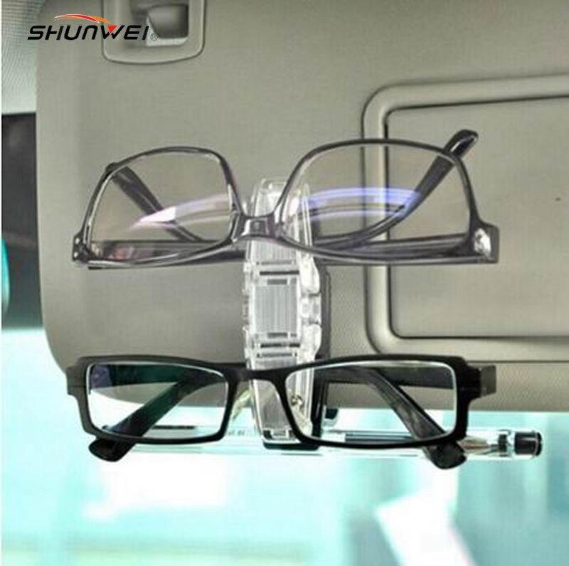 1Pcs Eye Glasses Card Pen Holder Clip Car Vehicle Accessory Sun Visor Sunglasses Plastic Free Shipping