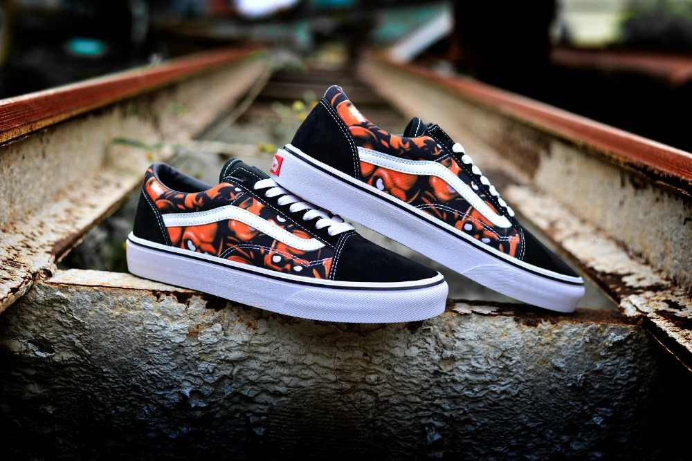 11db5d56262f ... VANS Slip-On and Sk8-Hi Sespring Classic Men and Womens Sneakers canvas  shoes